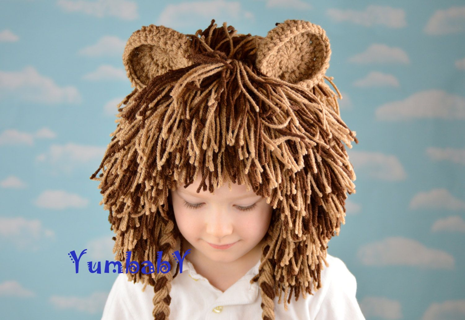 Dark brown hair color boy this lion wig is great for halloween birthdays parades and dress