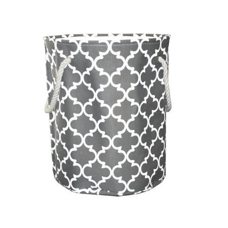 Mainstays Canvas Laundry Hamper Grey Laundry Solutions