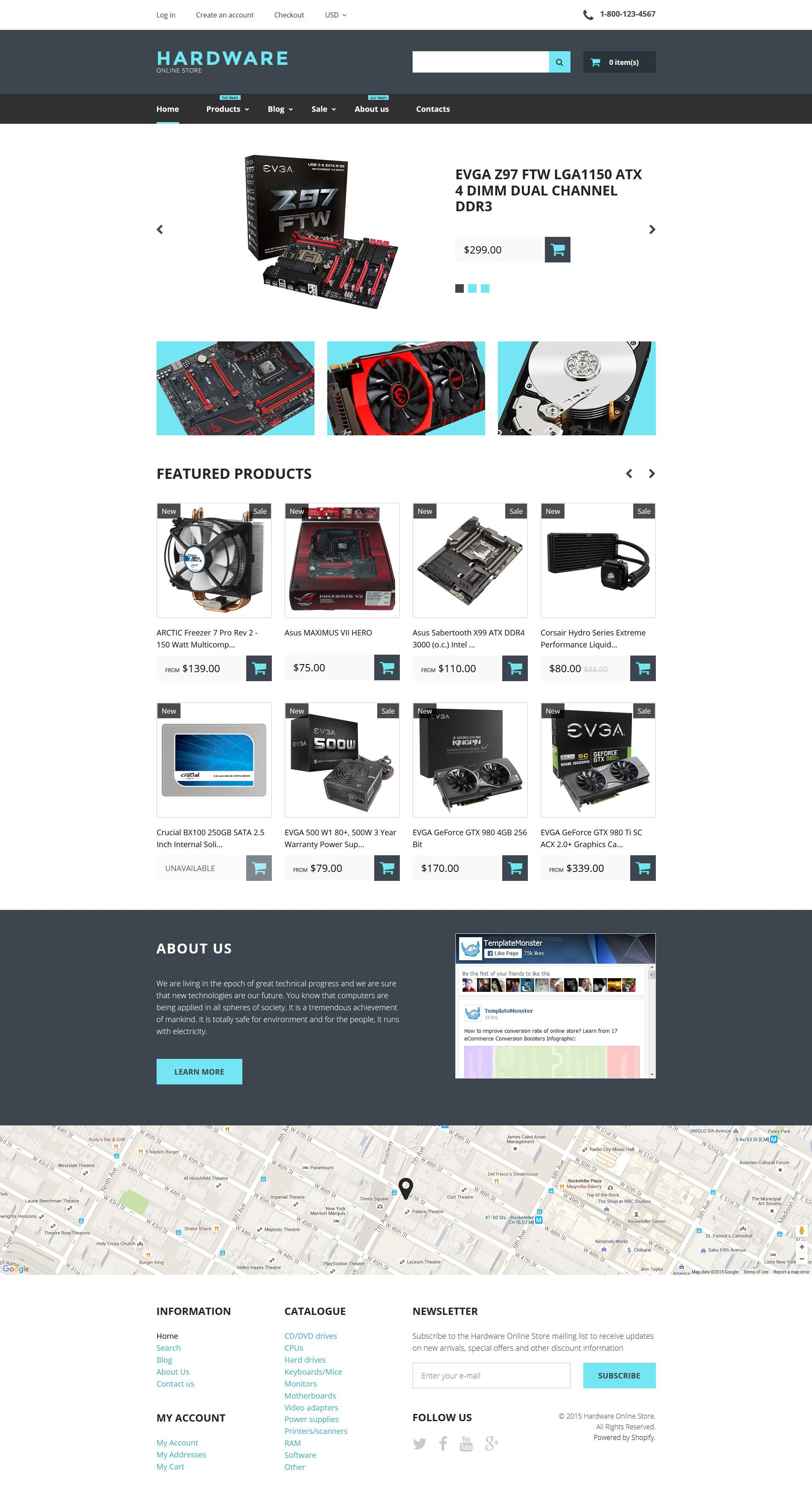 Computer Store Responsive Shopify Theme 57724 Computer