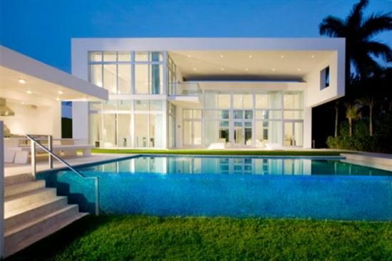 White domination in miami real estate house design and decor modern contemporary minimalist luxury home trends ideas 2010 picture