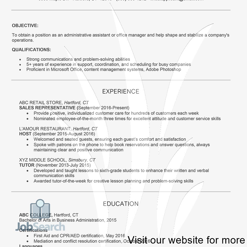 Resume Examples 2020 Customer Service