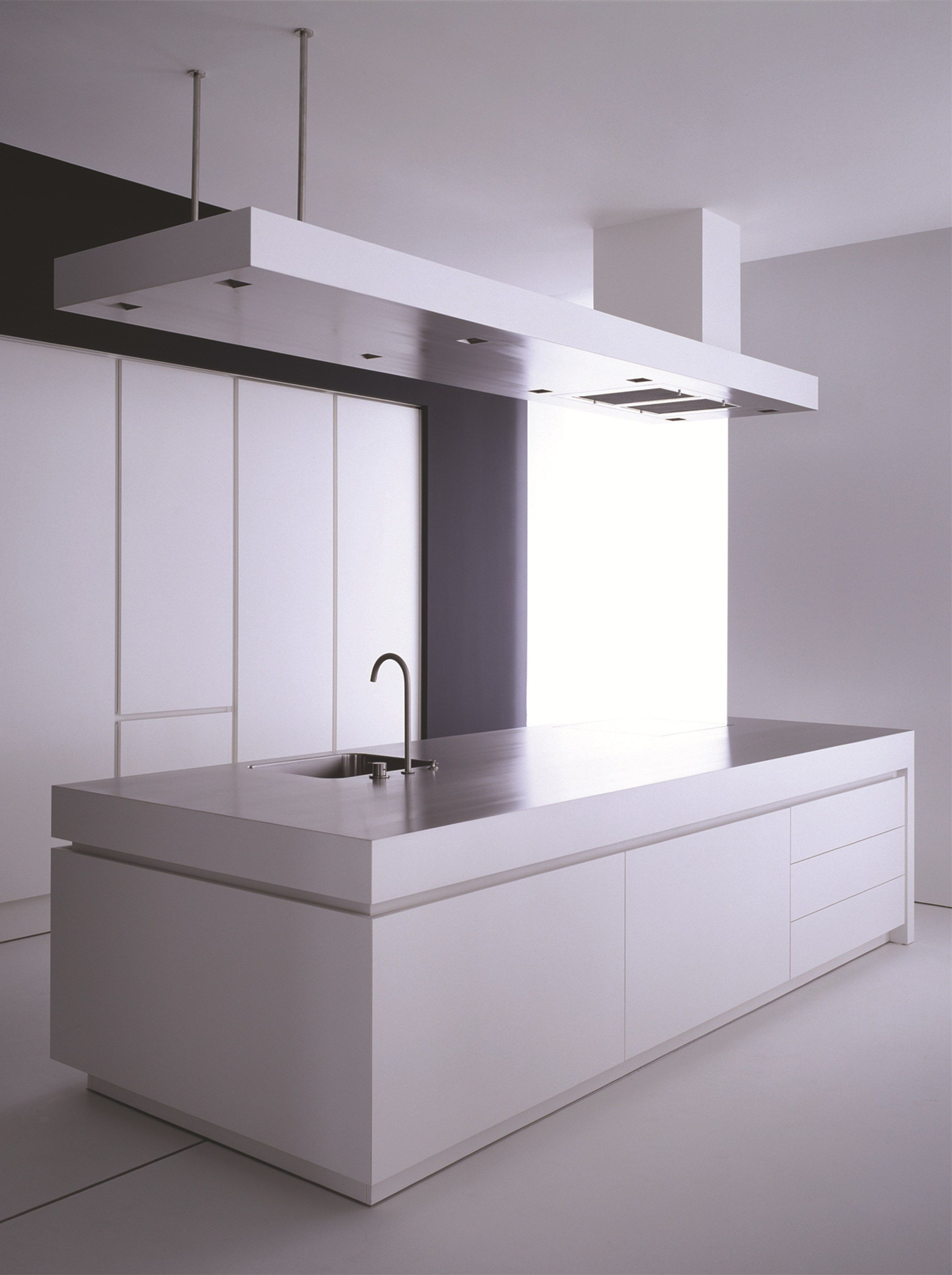 Stainless steel kitchen with island K13