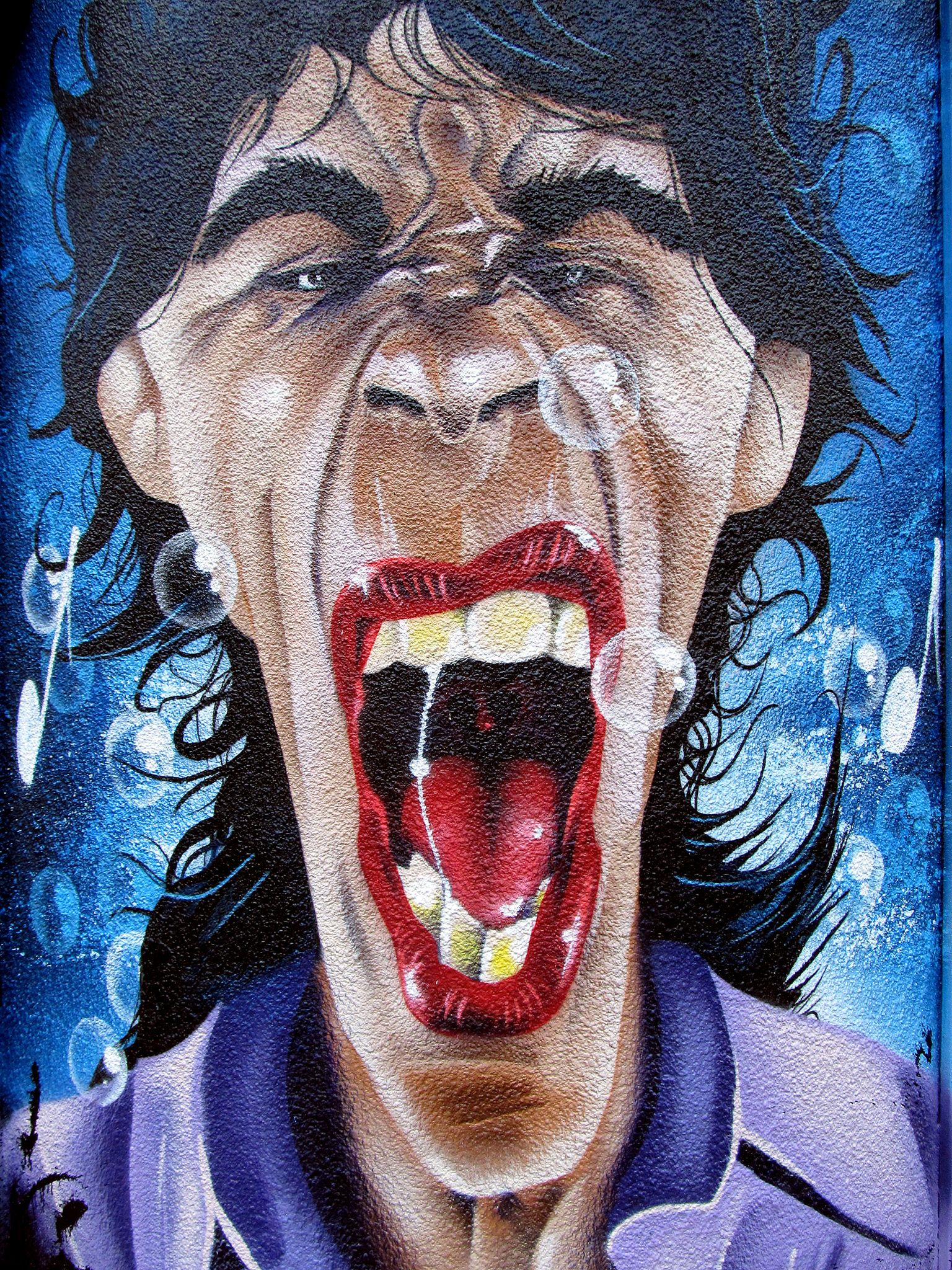 https://flic.kr/p/pAHqdG | Seven Faces by Trik9 - Mick Jagger. | With vivid colours and Anime style characters Sheffield street artist Trik9's work is distinctive. Here are seven of my favourite faces from his artworks around the city.