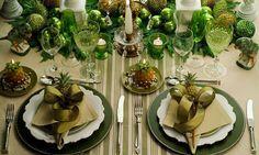 Mesas Decoradas para o Natal! Veja ideias e dicas para deixar sua mesa linda! Veja muito mais fotos, dicas e informações técnicas dessa mesa em Decor Salteado! É só clicar na imagem! ; - )