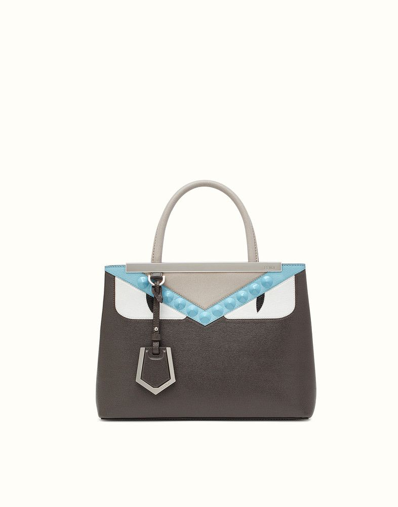 732415e68f38 FENDI PETITE 2JOURS - Gray tote bag with inserts and studs - view 1 detail