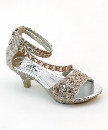 Look what I found on #zulily! Champagne Shimmer Sandal by Bolaro #zulilyfinds