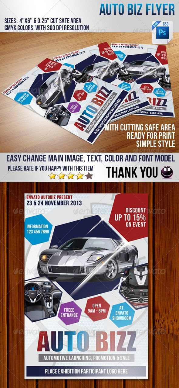 Car For Sale Flyer Auto Biz Flyer  Pinterest  Fonts