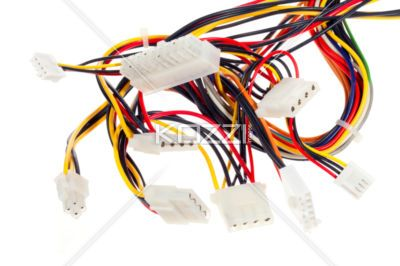 tangled electronic plug - Tangled cables and plugs of different sizes and colors