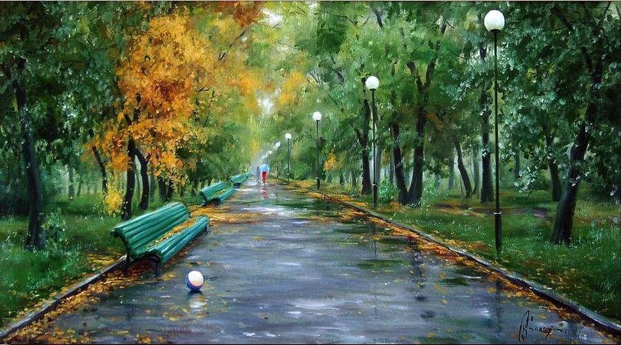 аллея в парке рисунок что