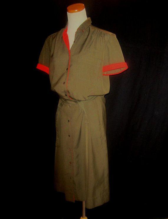 Eastern Airlines Stewardess Uniform Dress by BearsFoundTreasures
