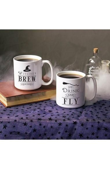 Witches Brew Ceramic Coffee Mugs Set of 2
