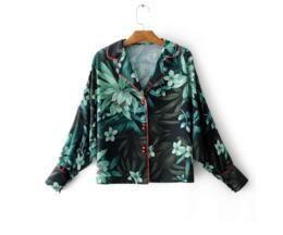 Fashion wind print kimono coat