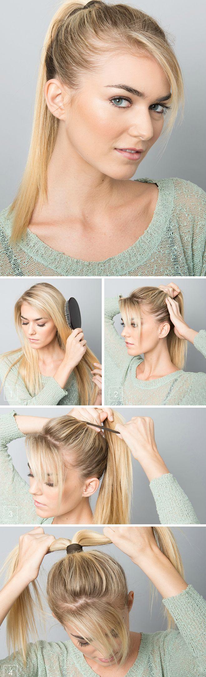 How to fake a fishbone braid fryzury pinterest