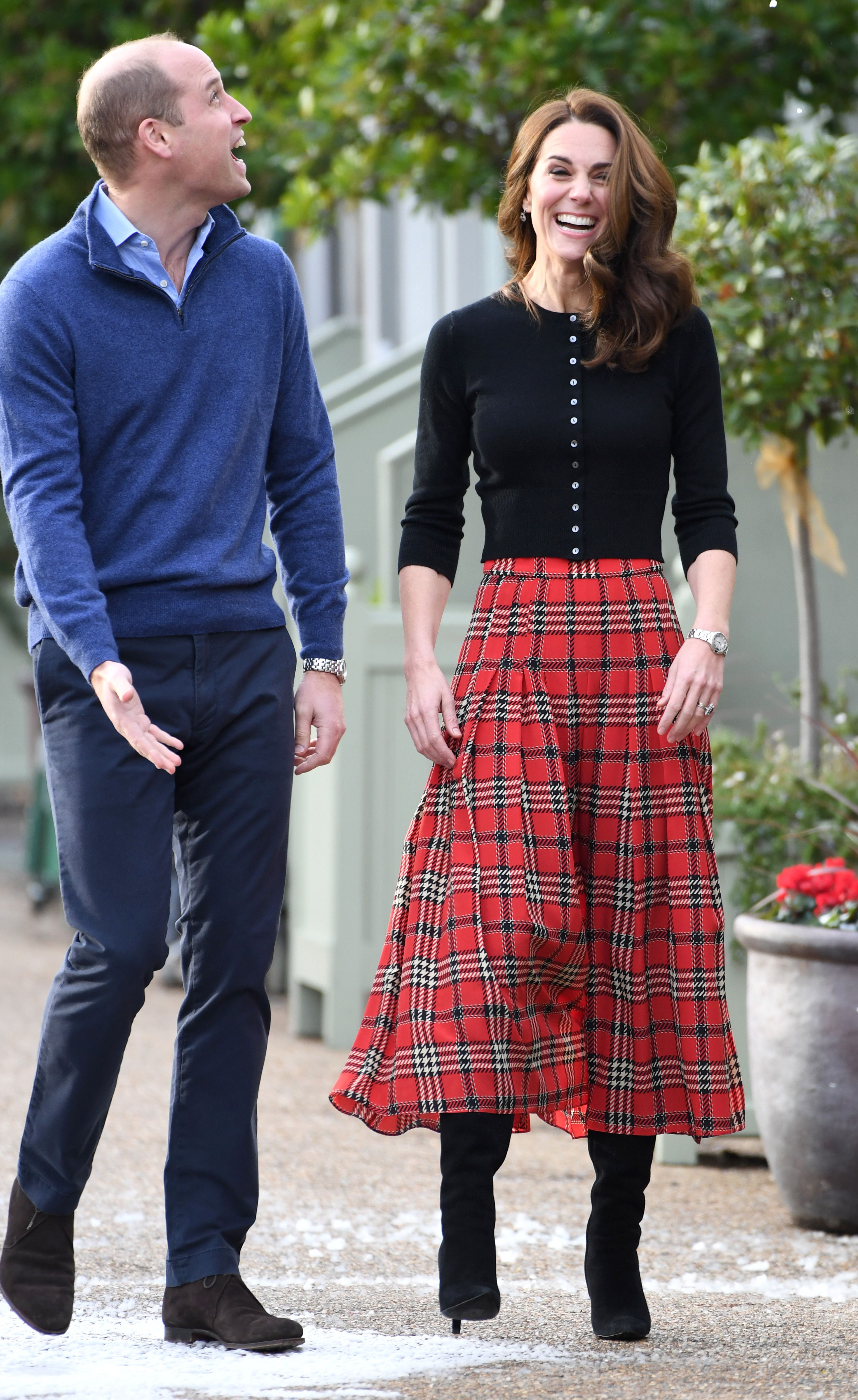 9c12ff1ca The Duke and Duchess of Cambridge hosted a #holiday party for military  families at Kensington Palace today, and #KateMiddleton wore  #EmiliaWickstead for the ...