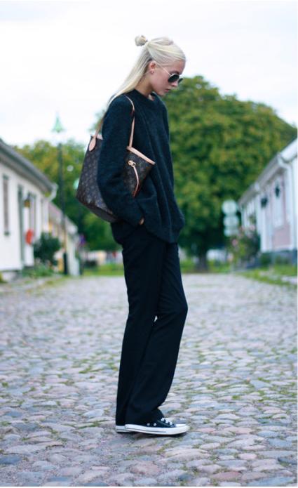 minimalist black outfit