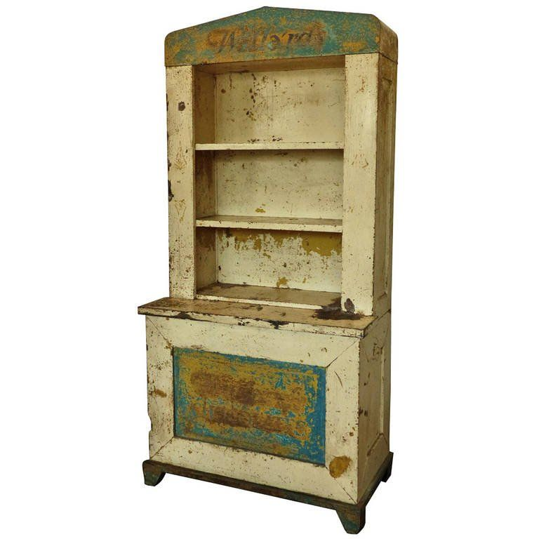 1920 Metal Advertising Display Cabinet