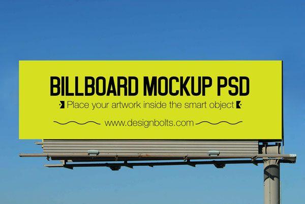 Free Outdoor Advertising Hoarding Mockup PSD 3 (4.2 MB) | designbolts.com