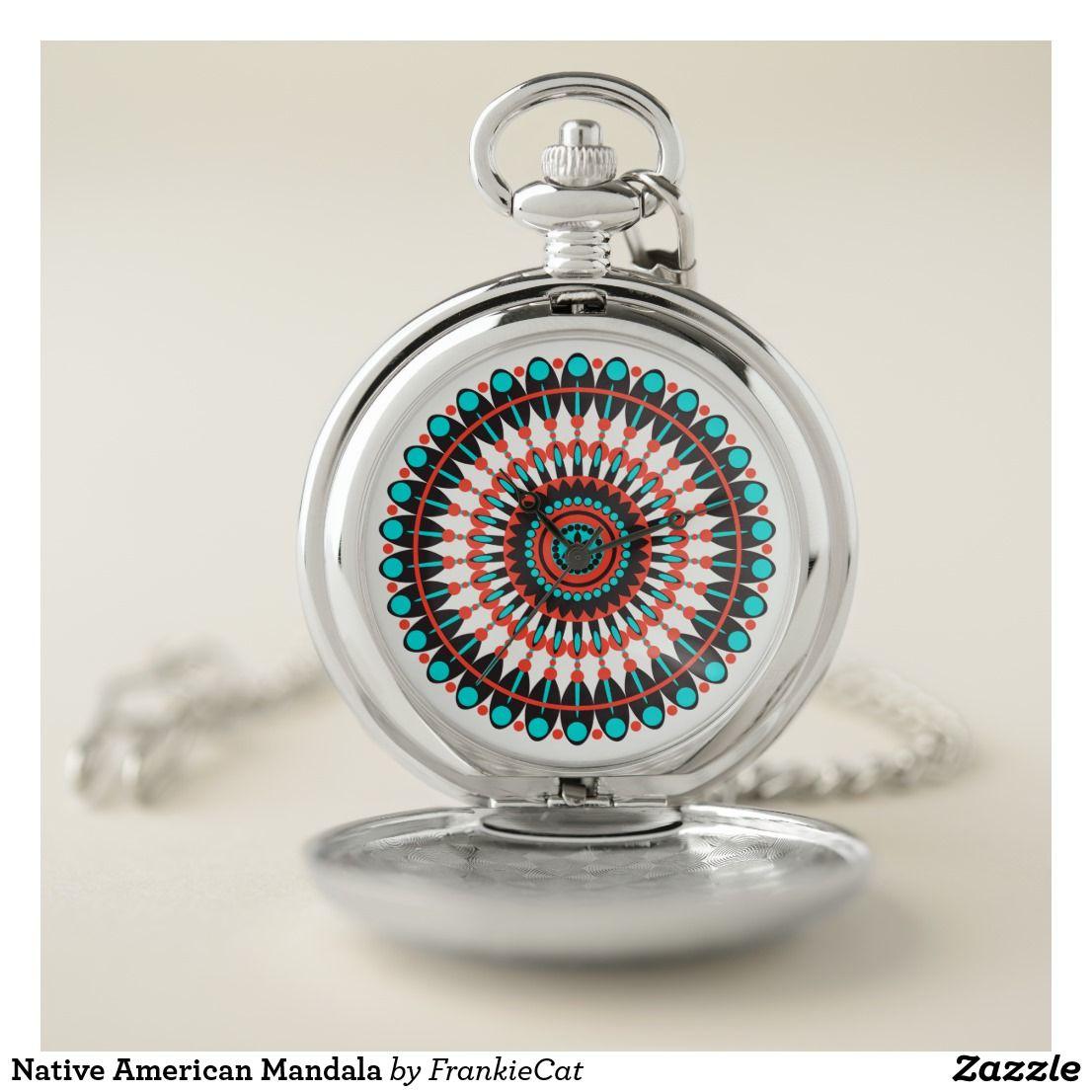 native american mandala pocket watch