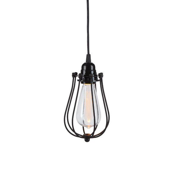 Black Narrow Metal Cage Etched Indoor Outdoor Plastic St64 Edison Bulb Hanging Led Lamp Battery Operated Wi Hanging Pendant Lamp Pendant Lighting Bulbs Indoor