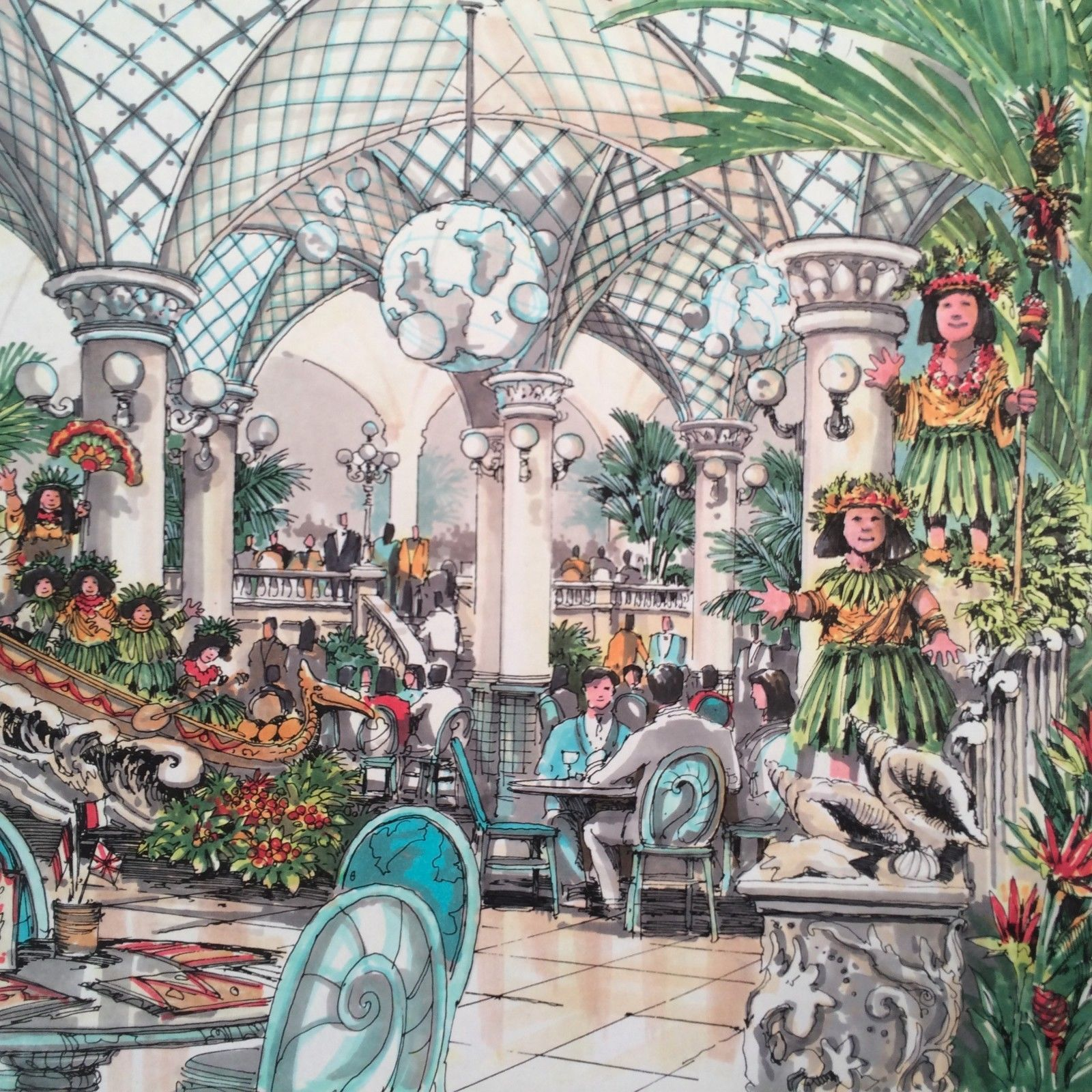Tokyo Disney Resort Restaurant Concept Walt