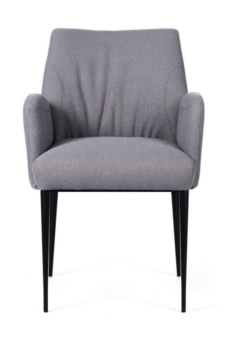 Chaise  accoudoirs et piétement métallique ENORA par Mobitec