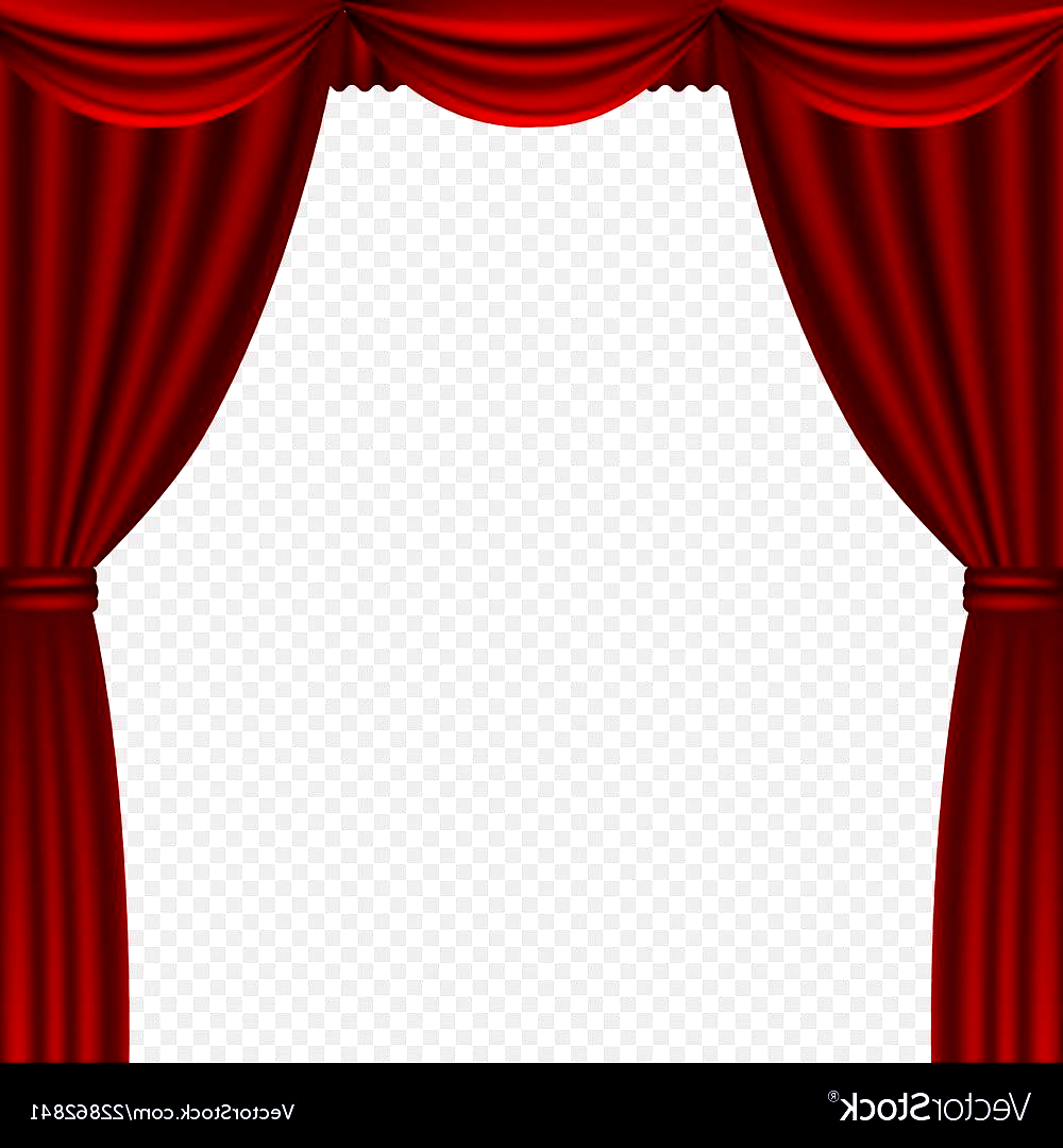 Curtain Theater Curtains Isolated Royalty Free Vecto In 2020