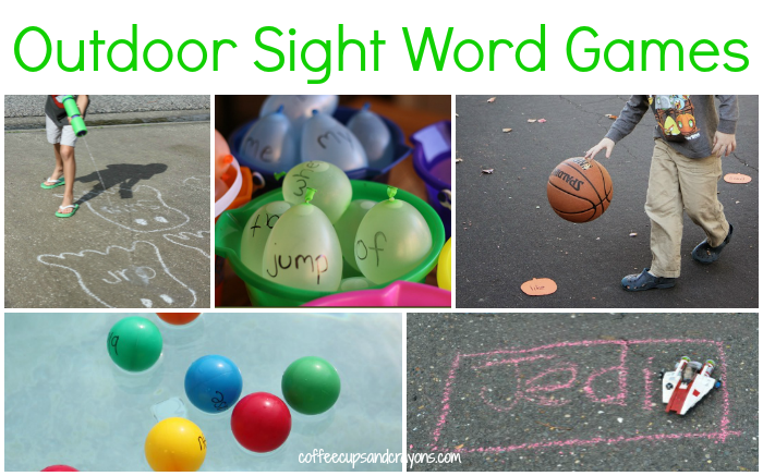 Sight Word Games to Play Outdoors Sight word games