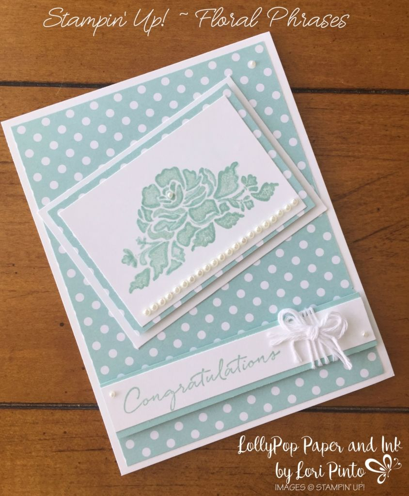 Stampin Up Floral Phrases Monomonday Pool Party Wedding Wishes