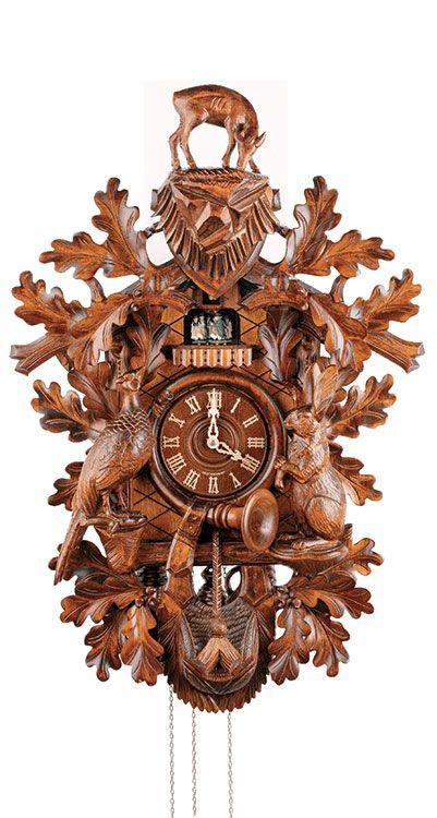 Cuckoo Clock 8 Day Movement Carved Style 78cm By Anton Schneider