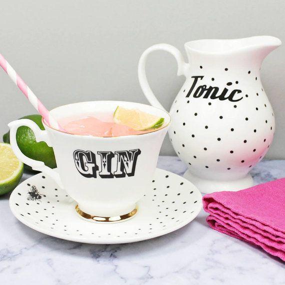 Gin Tonic Tea Set By Yvonneellen On Etsy Summer Picnic
