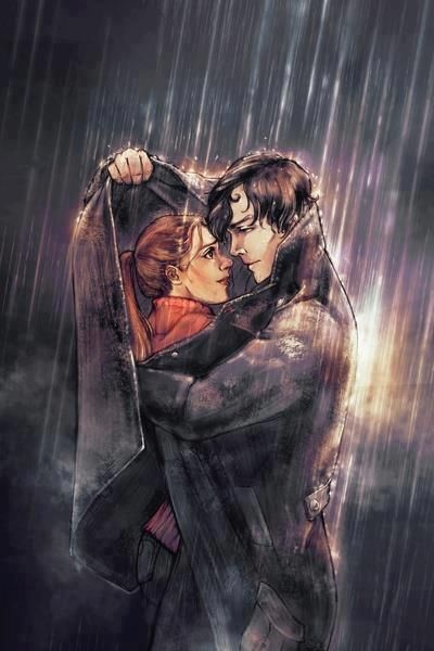 wolf protecting scarlet from the lunar chronicles   Wolf & Scarlet in the Rain https://www.facebook.com/photo.php?fbid ...