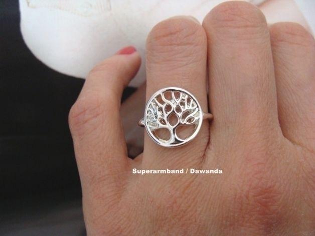 Silber Lebensbaum ring Baum des lebens ring