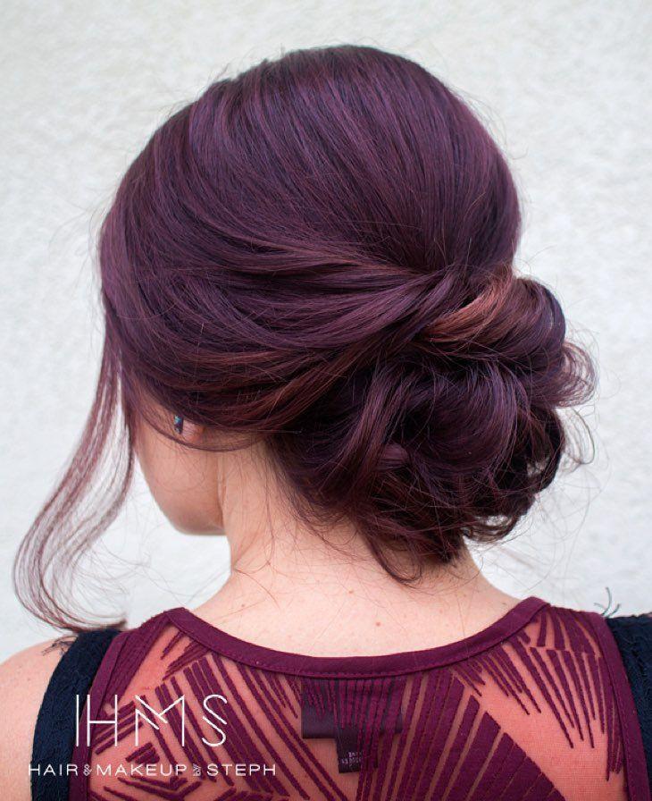 Simple soft updo. #hairandmakeupbysteph