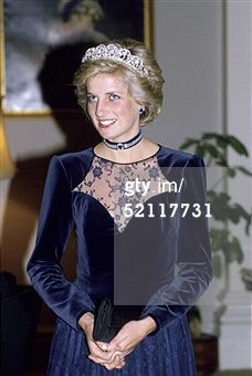 MELBOURNE, AUSTRALIA - NOVEMBER 06: Princess Diana In Melbourne Attending A State Dinner At Government House During A Royal Tour Of Australia. She Is Wearing The Spencer Tiara. (Photo by Tim Graham... Read more