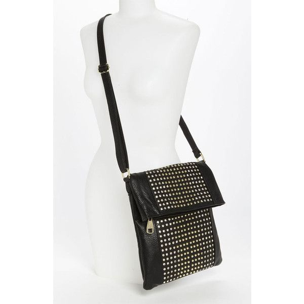 Steve Madden 'Stud Love' Foldover Crossbody Bag | Nordstrom ($128) via Polyvore