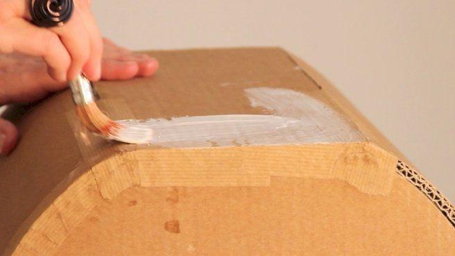 Finitions Pour Mobilier En Carton En 4 Lecons Mobilier En Carton Meubles En Carton Mobilier De Salon
