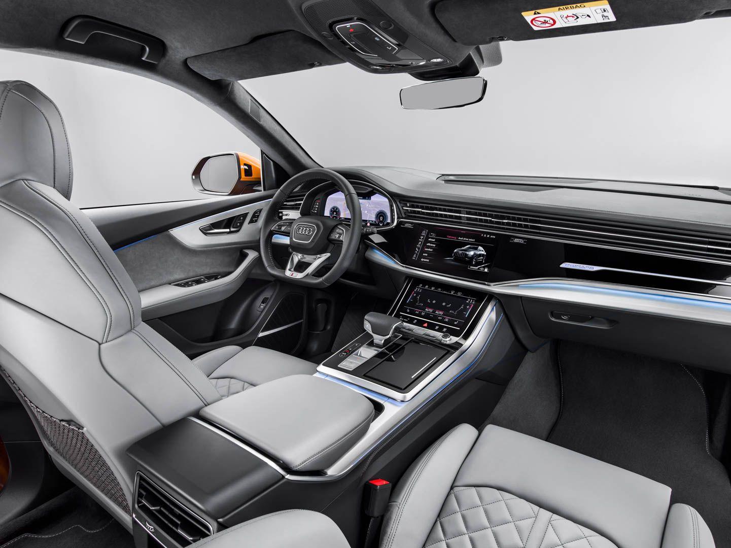 Video Audi Q8 Reviewed By Carwow Audi Q3 Audi Q7 Interior New Engine