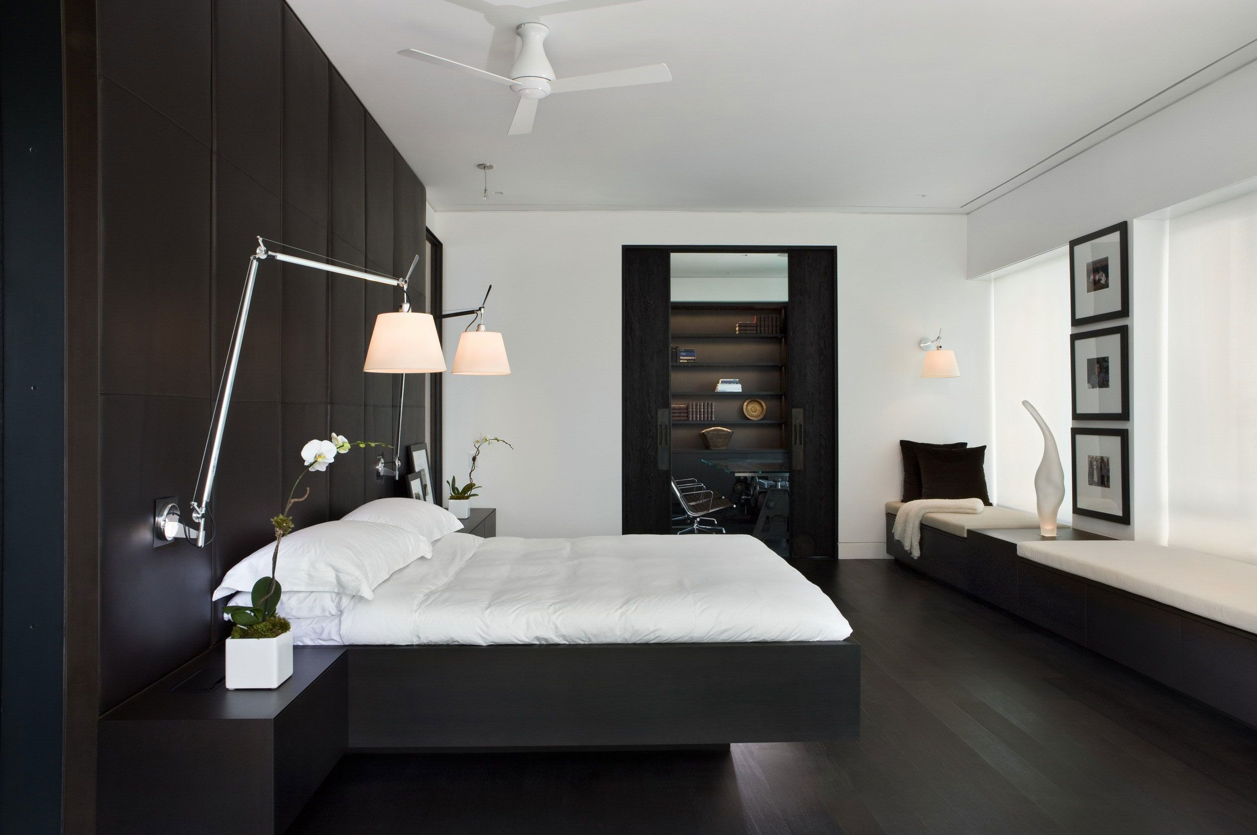 Hardwood Flooring Interior Seductive Dark Hardwood Floors Ideas With Ceiling Fan And Dark Bedroom Design Trends White Bedroom Design Minimalist Bedroom Design