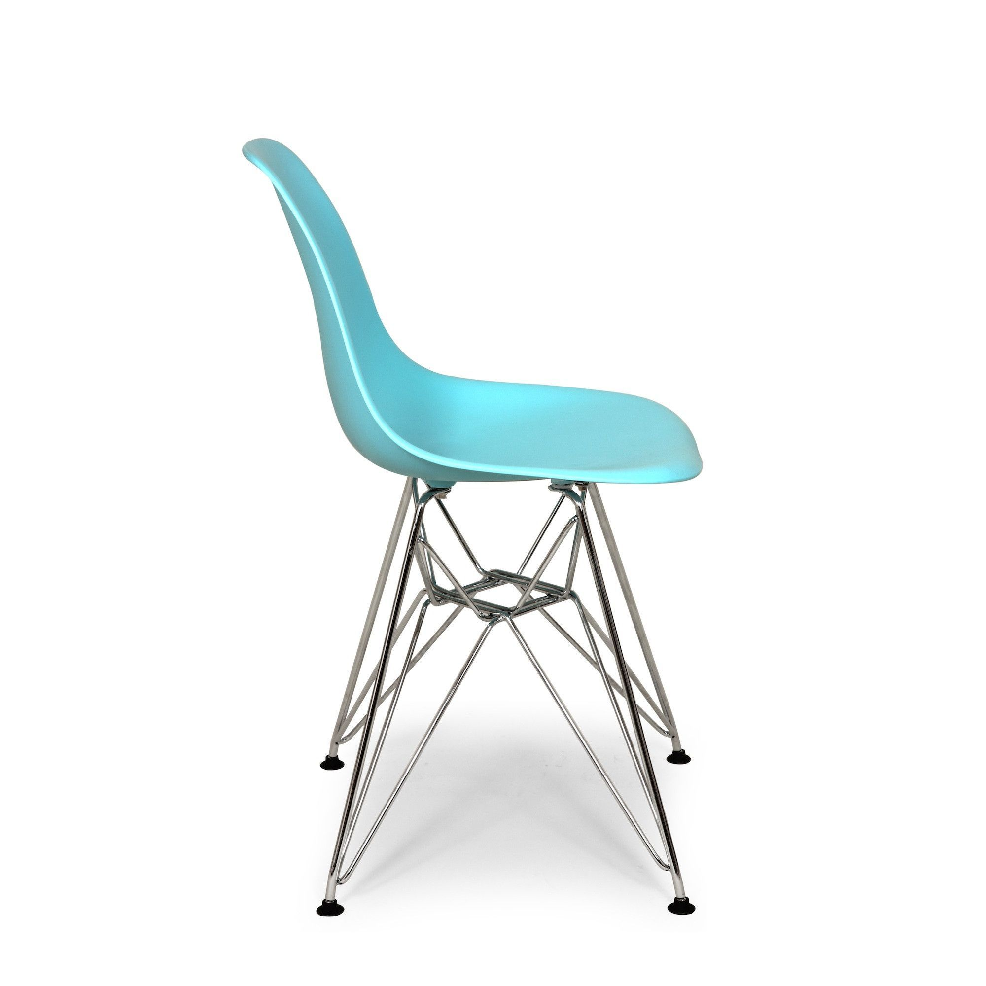 Mid-Century Molded Plastic Dining Chair Blue