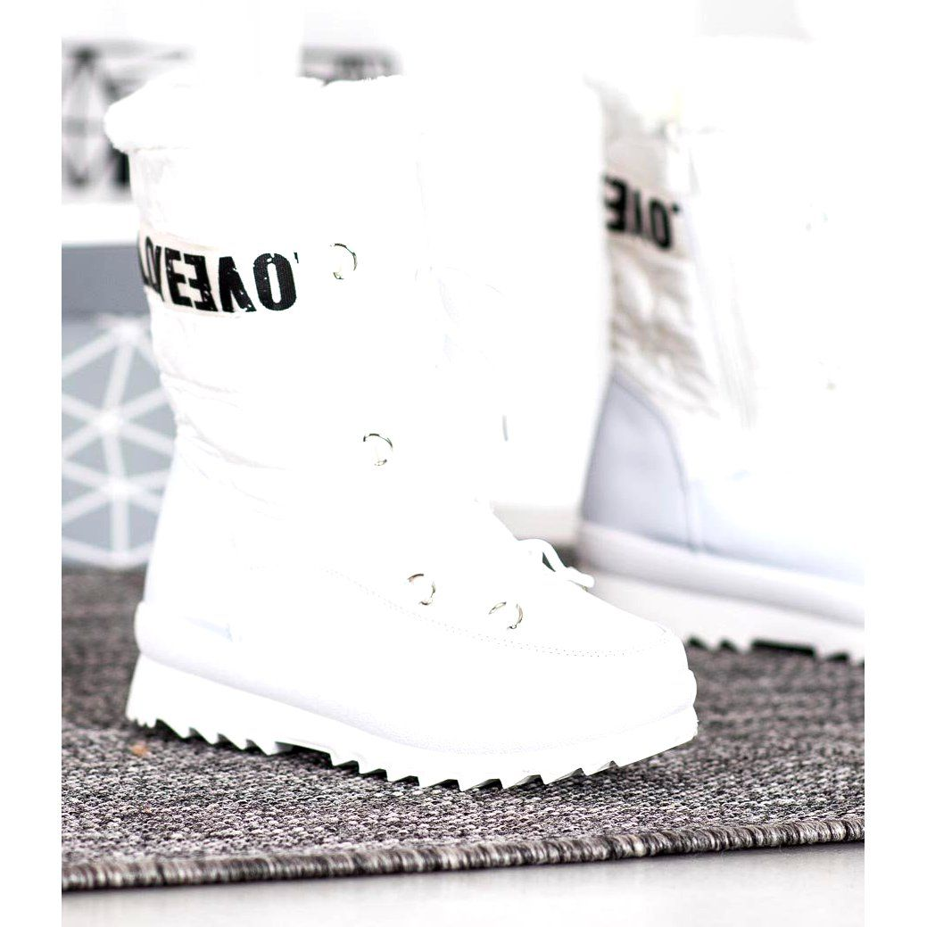 Shelovet Sniegowce Love Biale High Top Sneakers Top Sneakers Wedding Sneaker