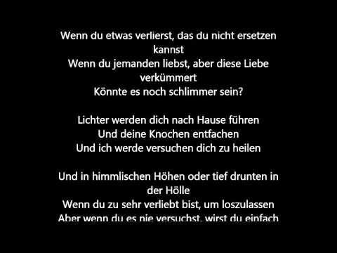 Coldplay - Fix You [Deutsche Übersetzung / German Lyrics