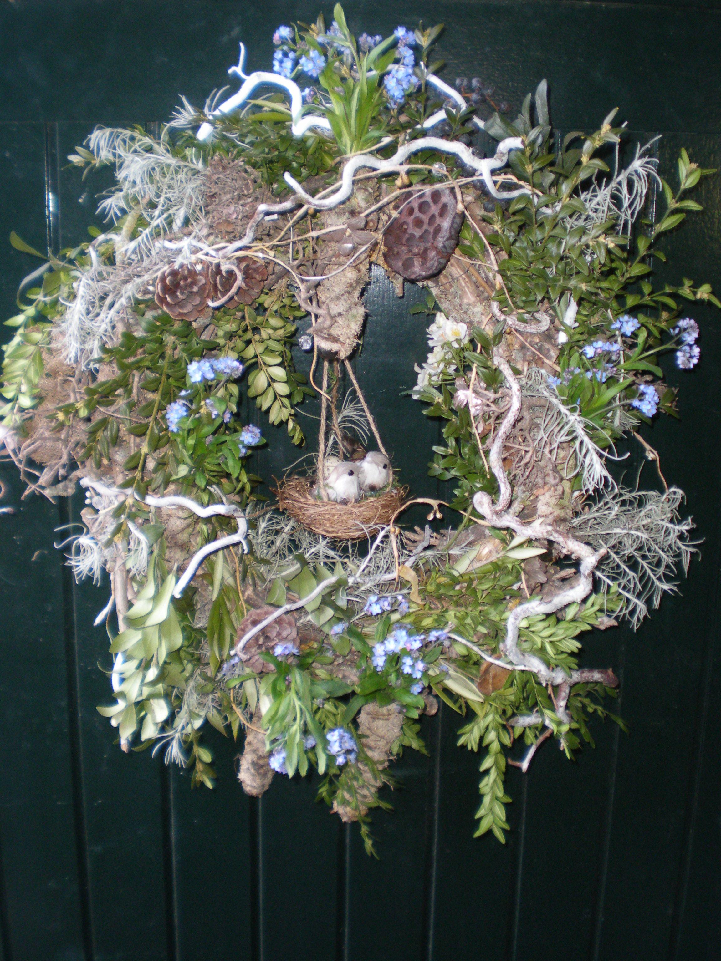 Deurkrans voorjaar tuin pinterest wreaths easter and craft