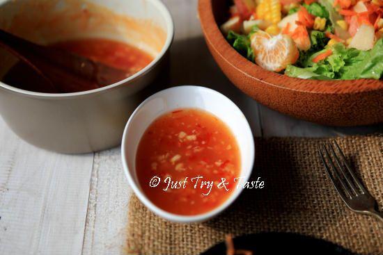 Resep Salad Sayur Buah Dengan Saus Thai Resep Salad Resep Masakan Makanan Dan Minuman