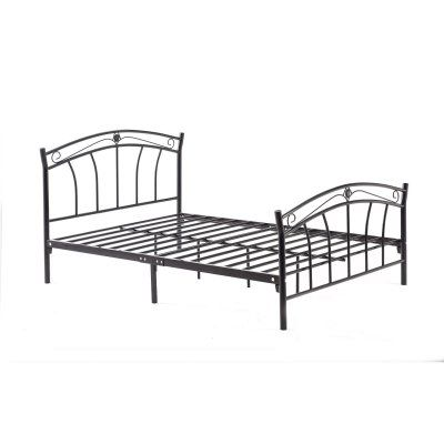 Style Of Hodedah Imports Metal Scroll Platform Bed Size Queen HI816 Q BLACK Fresh - Simple Elegant black platform bed Photo