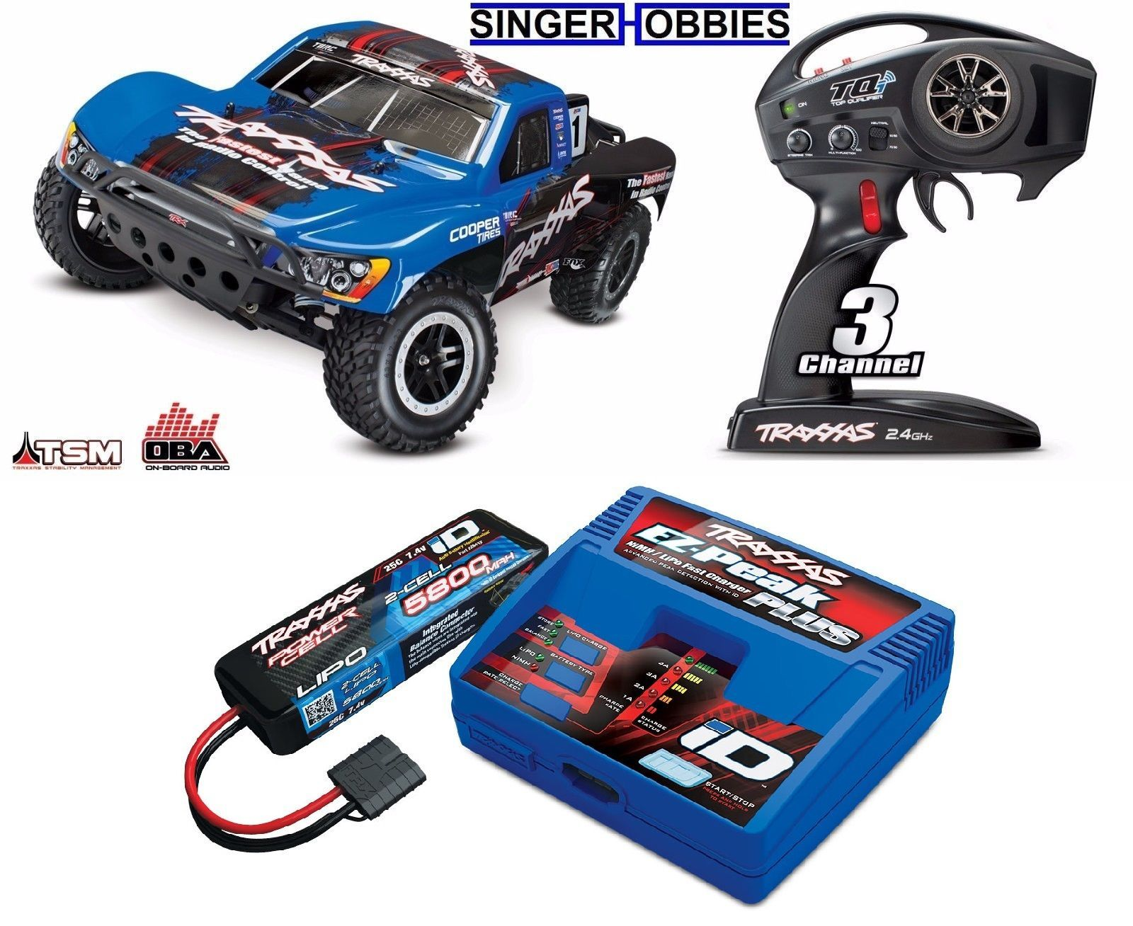 Traxxas 1 10 Slash 4WD Brushless SC RTR R C Truck w