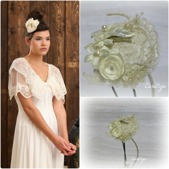 Ladies Large Wide Gold Lace Flower Headband Hair Band