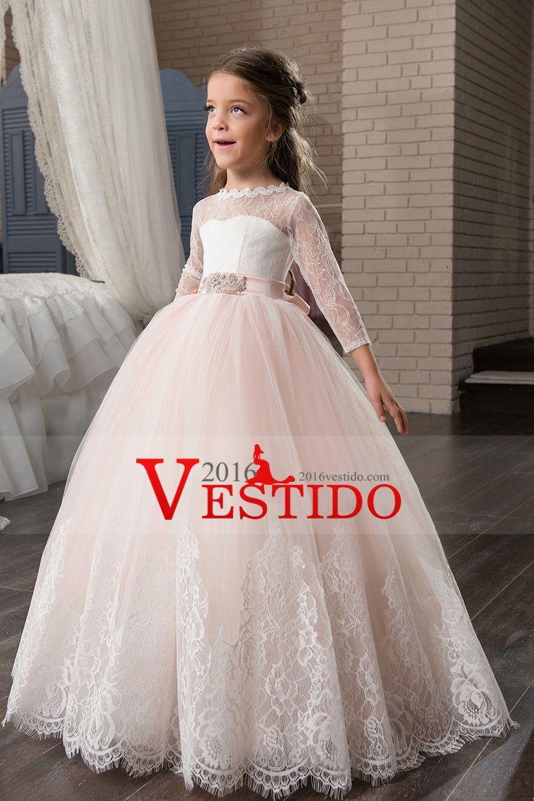 Cucharada Vestido Con Apliques Banda Tul Vestidos Correa Niña Fiesta Flores De 2017 IwY1gqCI