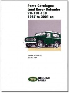Land Rover Defender 90 110 130 Parts Catalogue 1987 2006 Land Rover Defender Parts Land Rover Land Rover Defender