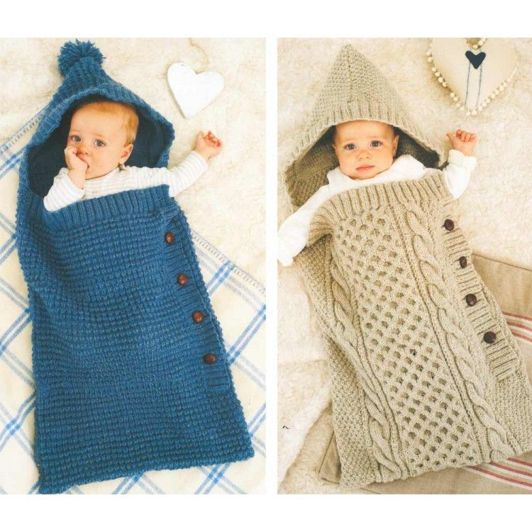 Cosy Blue Cocoon & Cosy Cabled Cocoon in King Cole Aran | Modeller ...
