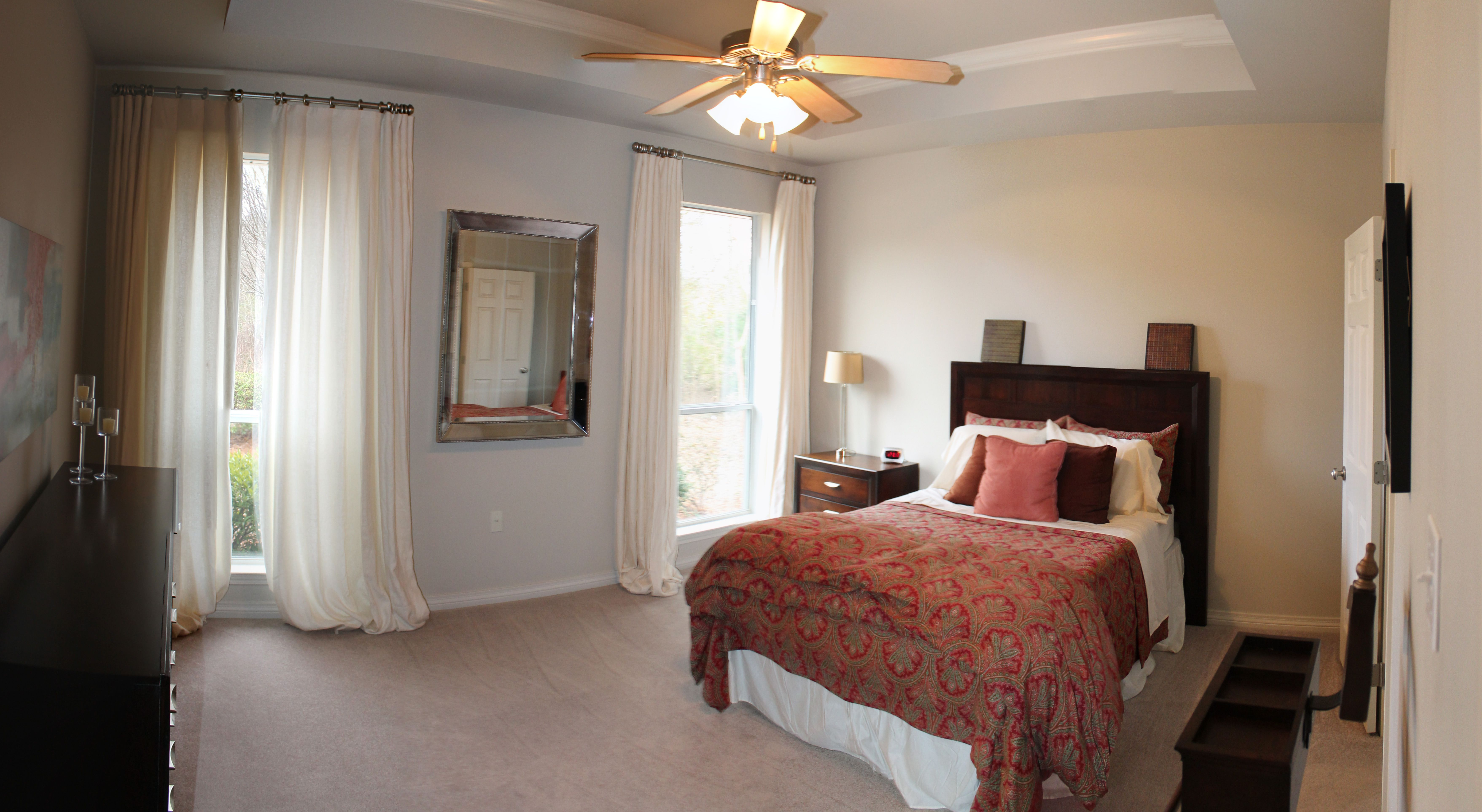 Master Bedroom with Trey Ceiling House